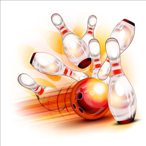 500x500 Creative Bowling Vector Background 04 Free Download