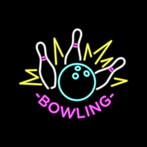 490x490 Neon Bowling Vector