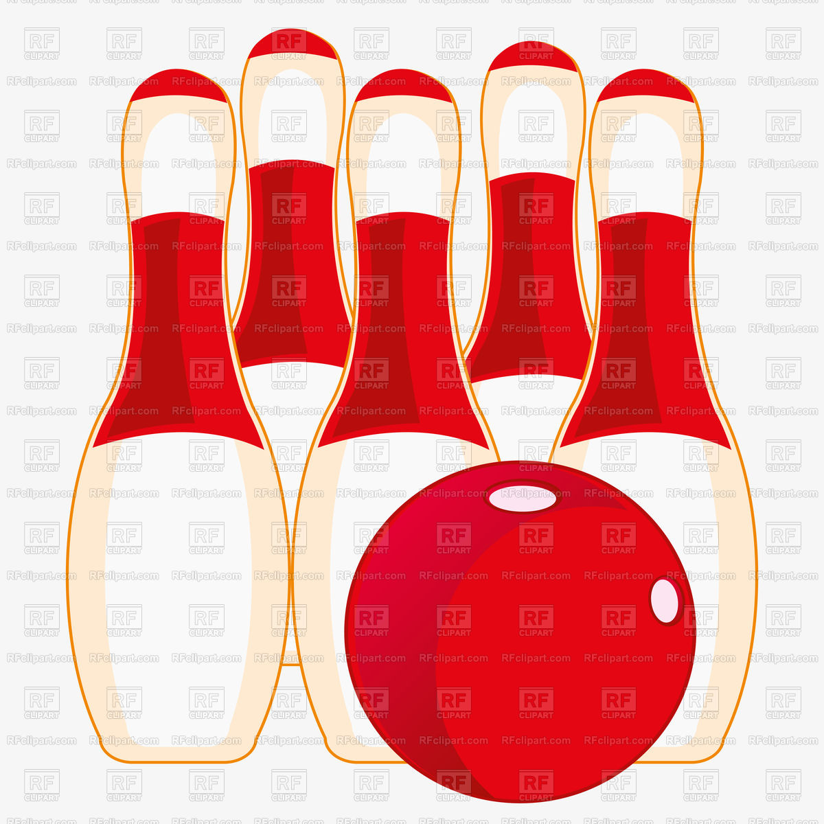 1200x1200 Skittles For Game Of Bowling On White Background Vector Image