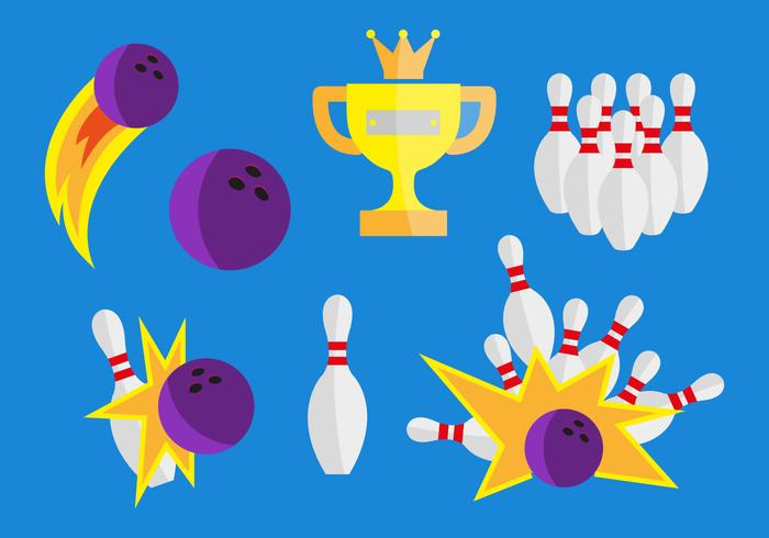 700x490 Bowling Vector Illustrations