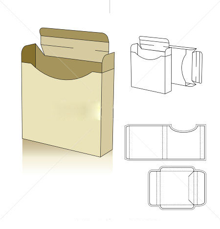 450x470 Square Profile Box Template Vector Corrugated And Folding Carton
