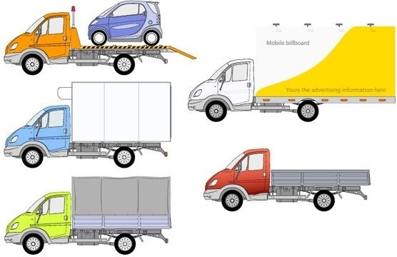 556x360 Drawn Truck Vector Box 2