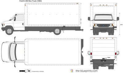 400x239 Ford E 350 Box Truck Vector Drawing