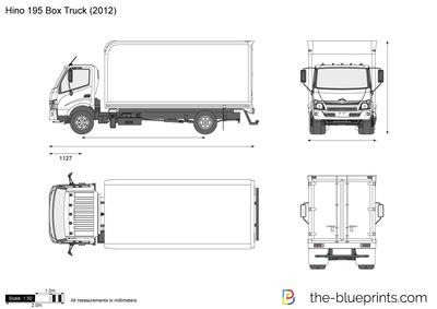 400x283 Hino 195 Box Truck Vector Drawing