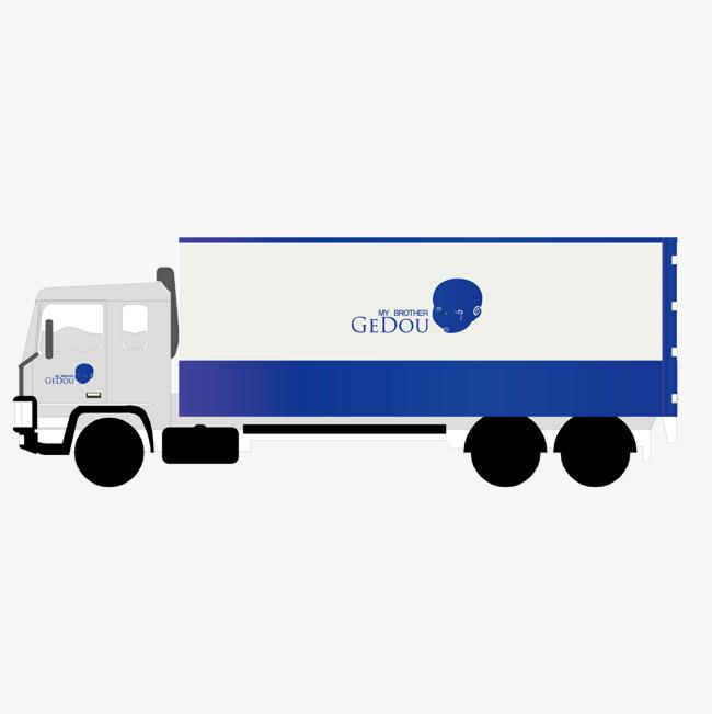 650x651 Vector Blue Box Van Truck, Blue Vector, Box Vector, Van Vector Png