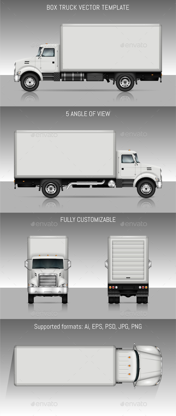 590x1391 Box Truck Vector Template By Yurischmidt Graphicriver