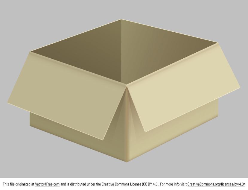 829x635 Free Cardboard Box Vector