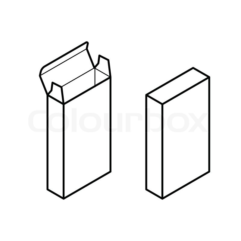 800x800 Image Of Rectangle Box Vector Isolated On White Stock Vector
