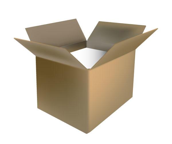 600x500 Open Cardboard Box Vector Free 123freevectors