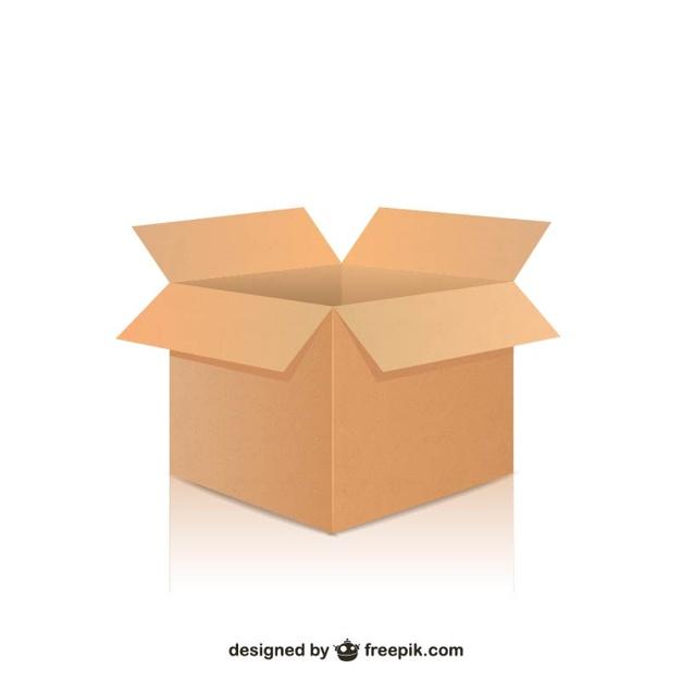626x626 Open Box Vector Free Download