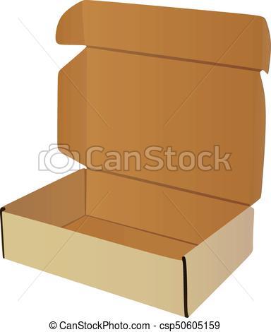 384x470 Open Box. Vector Illustrator.