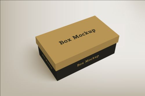 500x333 Shoes Product Packaging Box Vector Design 03 Free Download