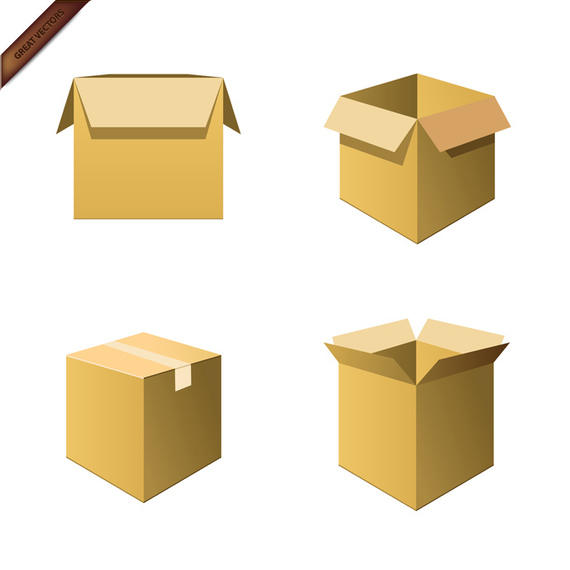 570x570 Vector Cardboard Boxes