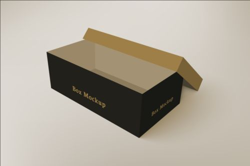 500x333 Shoes Product Packaging Box Vector Design 02 Free Download