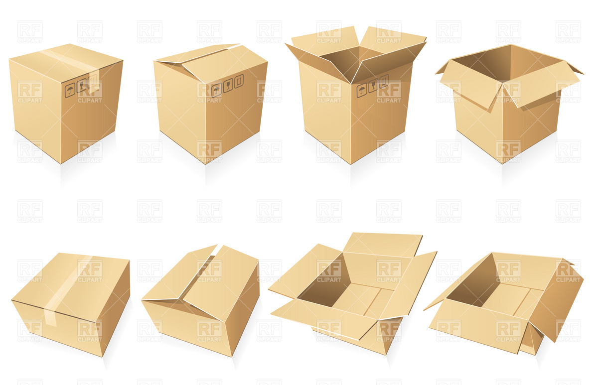 1200x773 Blank Cardboard Boxes Vector Image Vector Artwork Of Objects