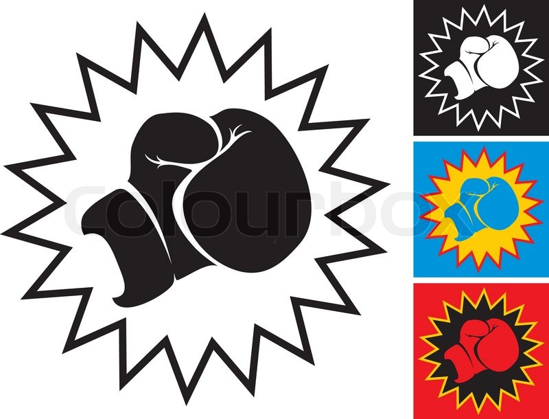 800x610 Illustration Punch In Boxing Glove Stock Vector Colourbox