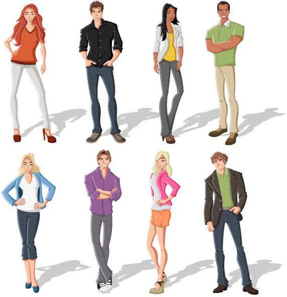 572x591 Different Cartoon Boys And Girls Vector Free Vector In