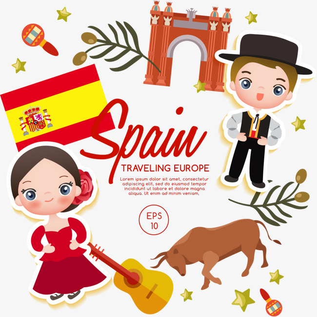 650x649 Spanish Boy Girl, Boy Vector, Girl Vector, Vector Material Png And