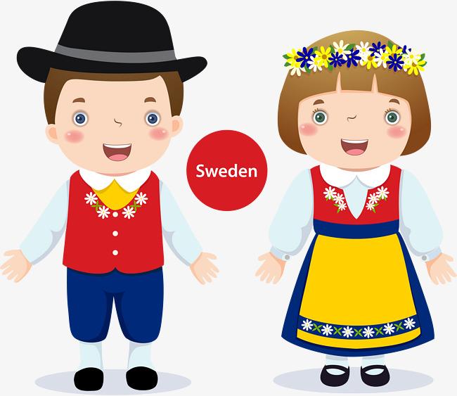 650x563 Swedish Boy Girl, Boy Vector, Girl Vector, Sweden Png And Vector