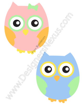 316x409 V10 Cute Girl Amp Boy Owls Free Vector Graphic