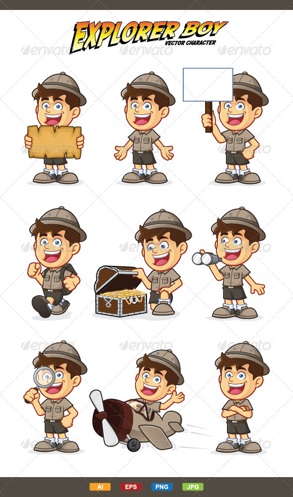 590x1000 Boy Scout Or Explorer Boy Character By Sundatoon Graphicriver