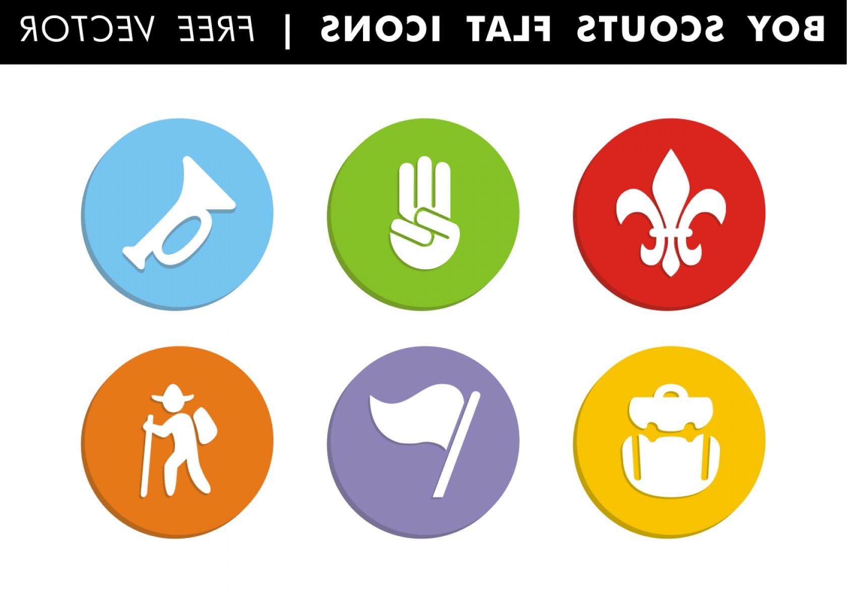 1680x1176 Boy Scouts Flat Icons Vector Libre Sohadacouri