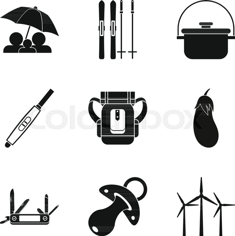 799x800 Boy Scout Icons Set. Simple Set Of 9 Boy Scout Vector Icons For