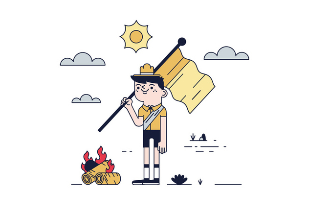 632x443 Free Boy Scout Vector Free Vector Download 443495 Cannypic