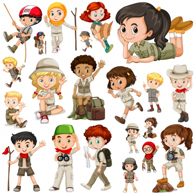 626x626 Girl And Boy Scouts Collection Vector Premium Download
