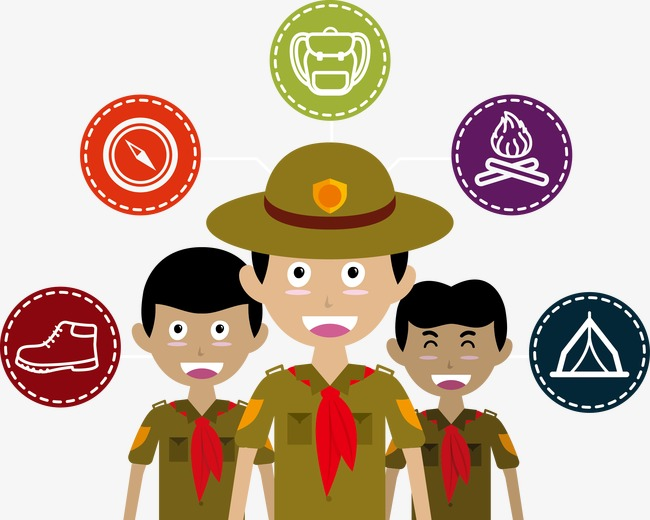 650x520 Vector Illustration Boy Scouts, Boy Scout, Army, Vector Png And