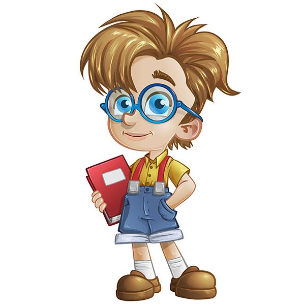 594x606 Geek Boy Vector Character