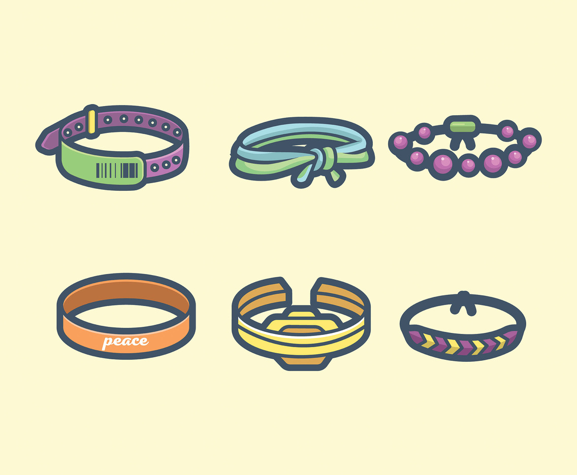 1136x936 Bracelets Vector In Thick Line Design Vector Art Amp Graphics