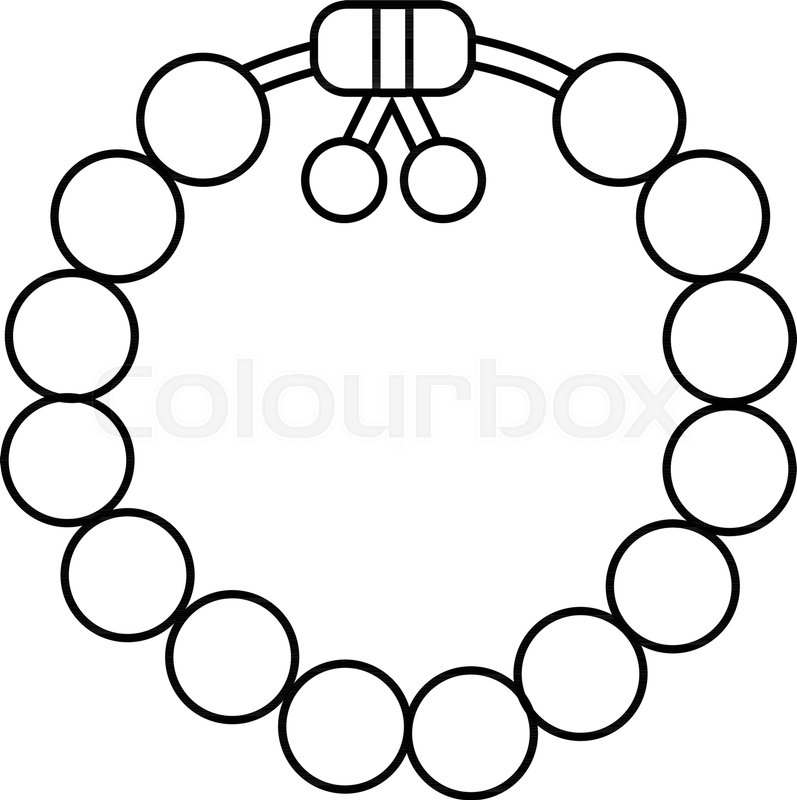 797x800 Charming Gemstone Bracelet Icon. Outline Illustration Of Charming