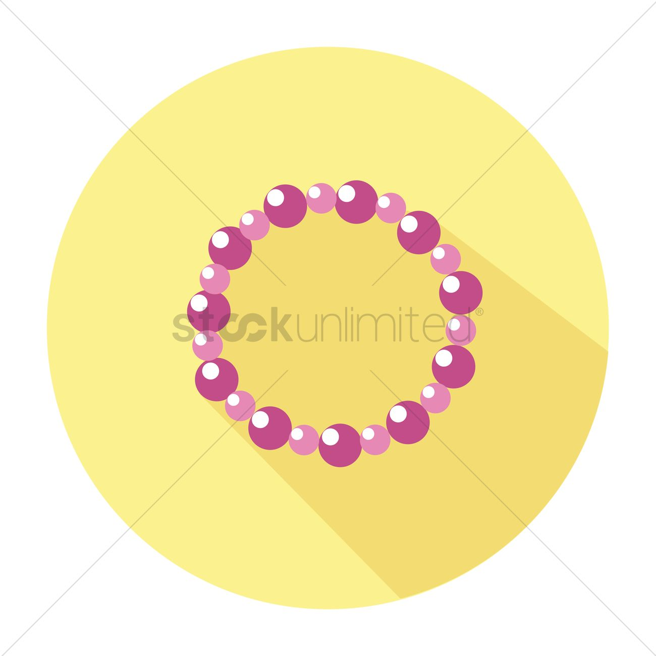 1300x1300 Free Beaded Bracelet Vector Image