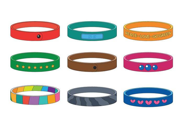 700x490 Wristband Vector Set