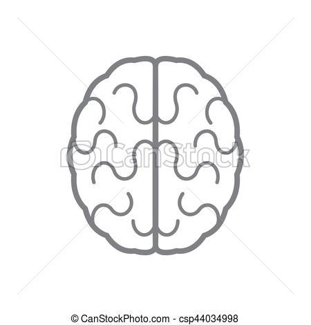 450x470 Brain Icon. Vector Illustration. Abstract Human Brain Icon. Vector