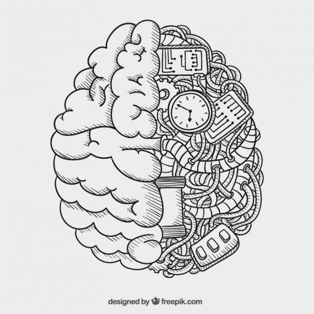 626x626 Mechanical Brain Vector Free Download