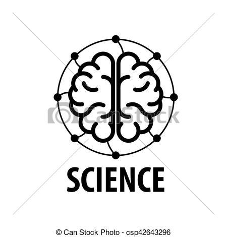 450x470 Vector Brain Logo. Template Design Logo Brain. Vector Illustration