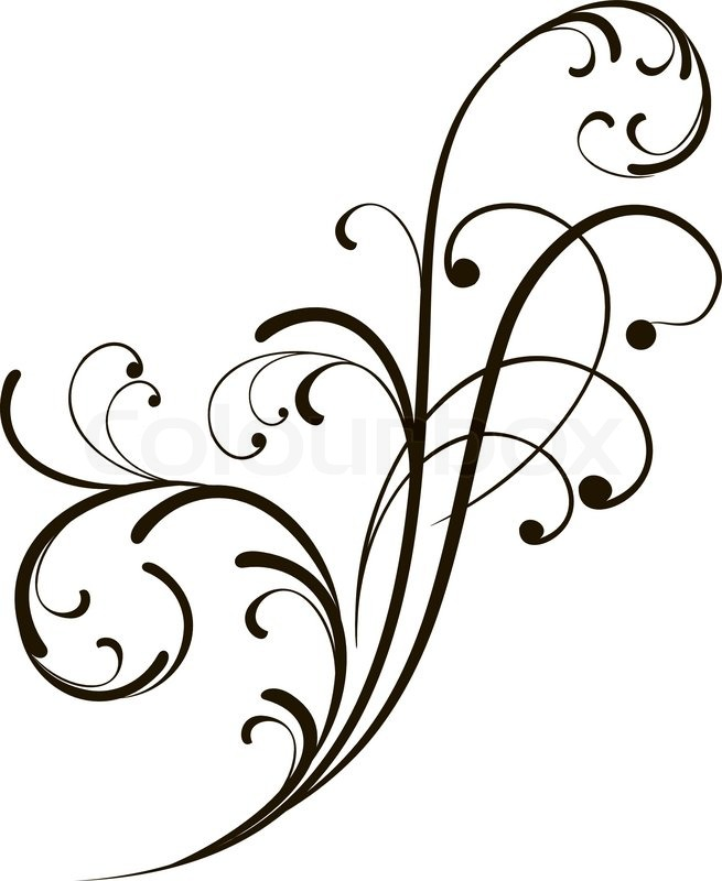 655x800 Abstract Background With Decorative Branch. Vector Illustration