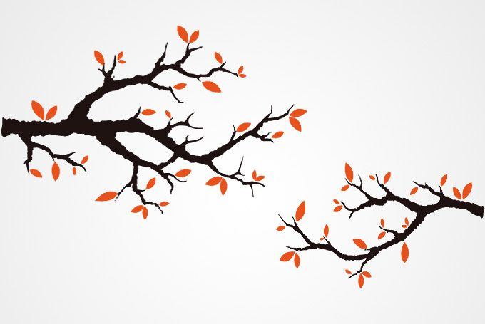 680x455 Branch Outline Autumn Tree Branches Vector (Free) Free Vector