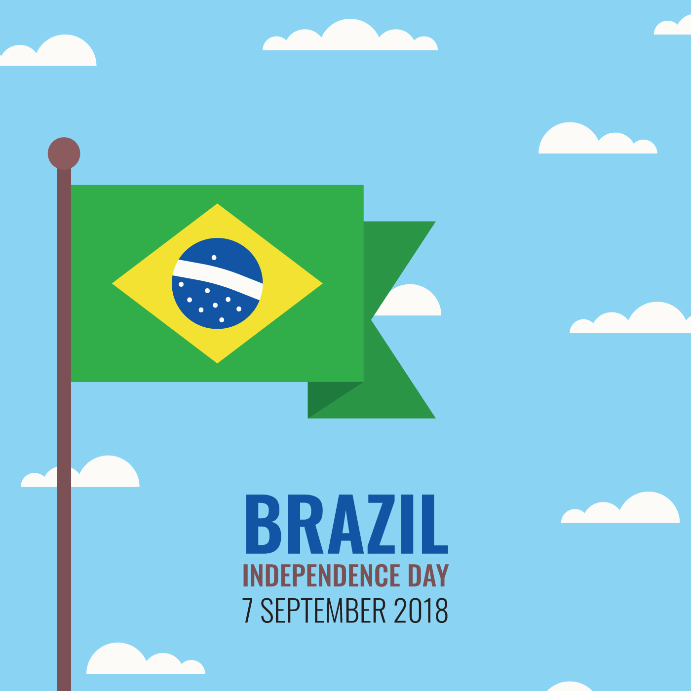 1400x1400 Brazilian Flag Free Vector Art
