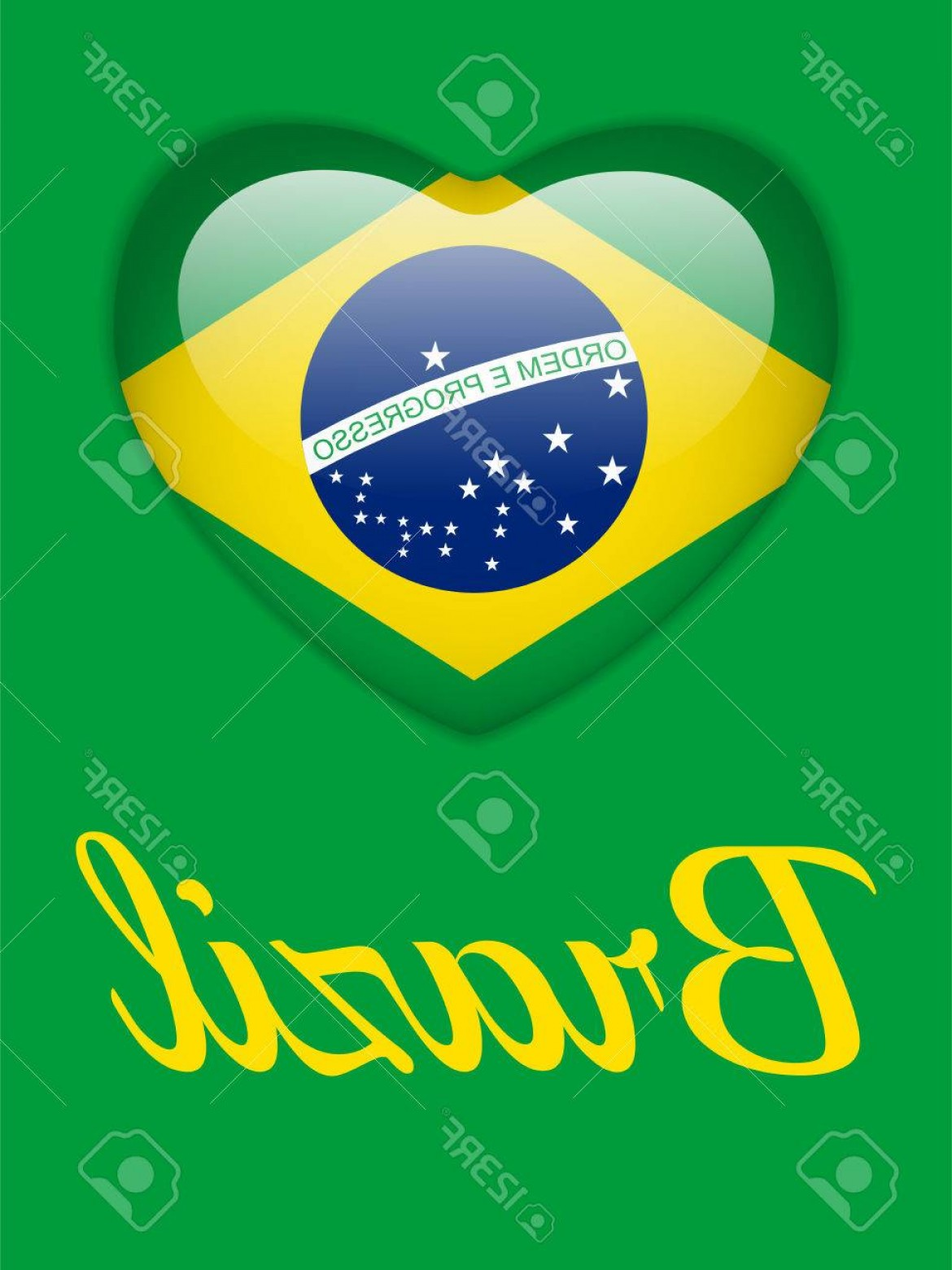 1170x1560 Photostock Vector Vector Brazil Heart With Brazilian Flag Orangiausa