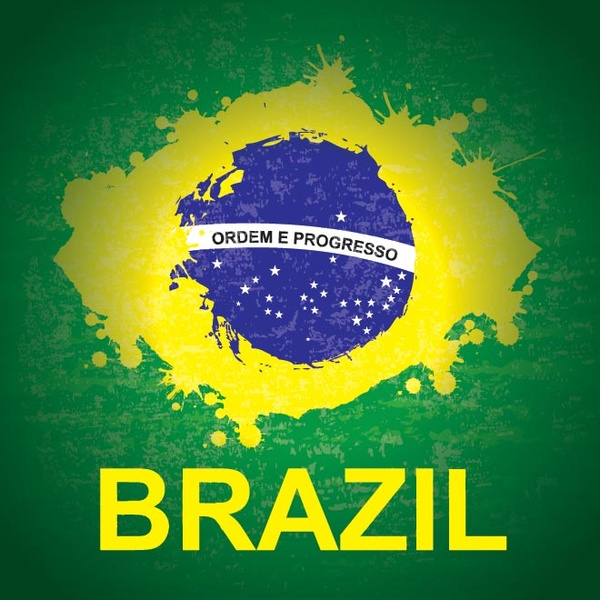600x600 Vector Beautifull Brazilian Flag Splash With Typography Vector