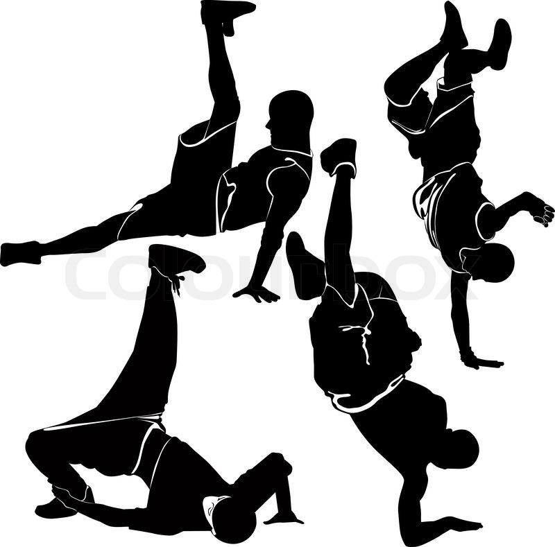 800x789 Breakdance Silhouette Break Dance Stock Vector Colourbox