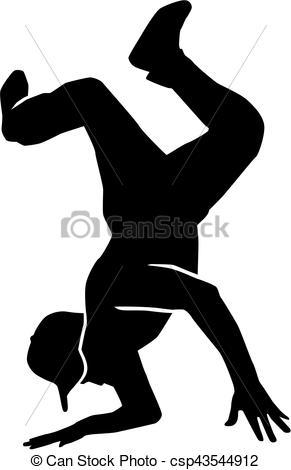 291x470 Breakdance Stunt Silhouette.