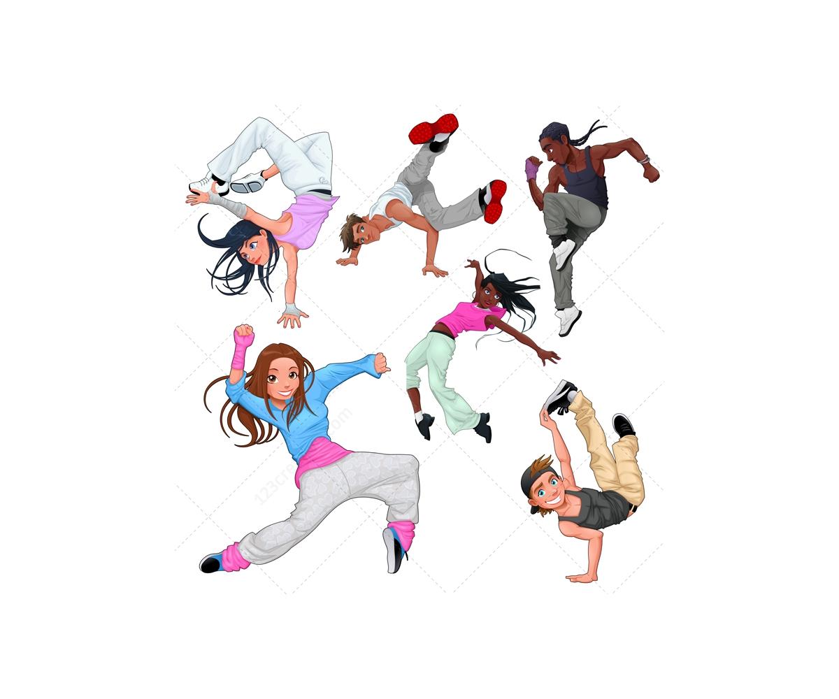 1200x1000 Breakdance Vector Characters