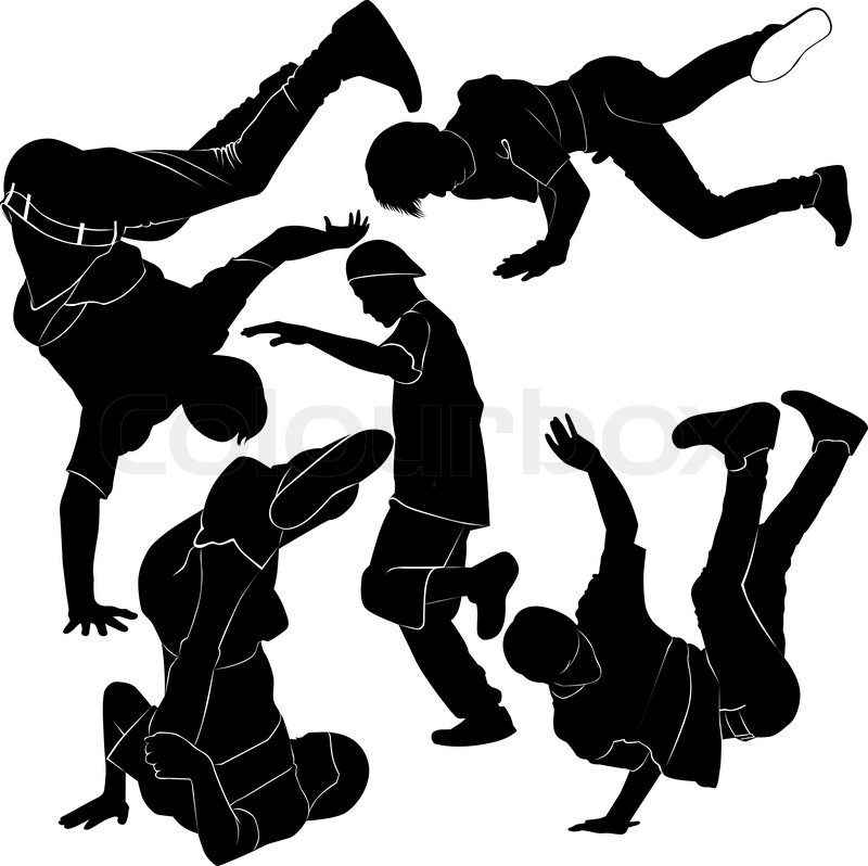 800x798 Collection Breakdance Silhouette Break Dance Stock Vector