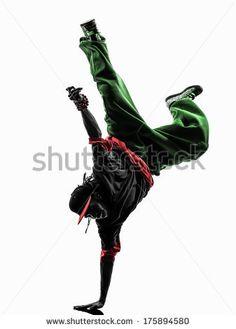 236x329 Dancing Silhouette Breakdance