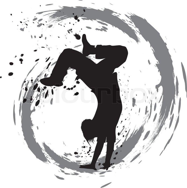 798x800 Dancing Silhouette, Breakdance Stock Vector Colourbox