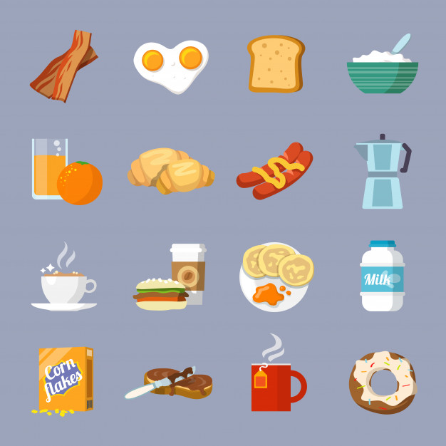 626x626 Breakfast Icon Flat Vector Free Download